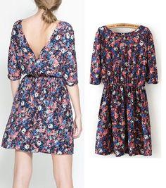 spring fashion backless sundress 2014   5
