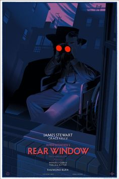 Rear Window   Variant Durieux Laurent Durieux poster