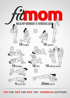 Fit Mom Workout http://neilarey.com/workouts.html  Themed exercise infograms.