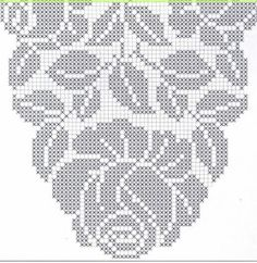This Pin was discovered by Neş Cross Stitch Borders, Cross Stitch Rose, Cross Stitch Flowers, Cross Stitch Embroidery, Cross Stitch Patterns, Hand Embroidery, Crochet Doily Patterns, Crochet Motif, Crochet Doilies
