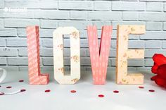 Made with Love, these fabulous letters from the First Edition Love Story pad are perfect for this Valentines day! Whether you're making a sweet gift or . Letter Templates Free, Love Signs, Valentine's Day Diy, Be My Valentine, Wedding Themes, Craft Tutorials, Paper Crafting, Love Story, Projects To Try
