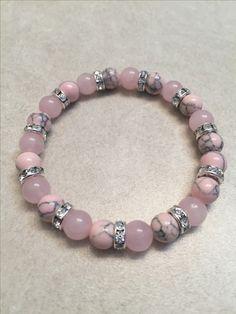 Womens Pink Bubble Gum Bracelet