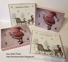 Kreativ im Norden: Adventskalender , Silhouette Cameo Stampin up Weihnachtsschlitten