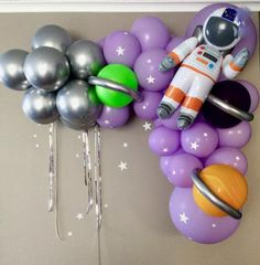 80 pcs Space Balloon garland kit, To the Moon,Astronaut,Space Balloon Arch,Girl Astronaut! Balloon Tower, Moon Balloon, Balloon Pump, Balloon Lights, Balloon Columns, Balloon Garland, Balloon Arch, 1st Birthday Balloons, Birthday Balloon Decorations
