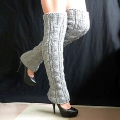 knitted leg warmers Winter Accessories very long. $51.00, via Etsy.