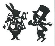 alice in wonderland silhouette - Google Search