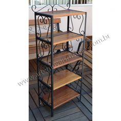 Estante / Prateleira- 1,60 x 0,50 - madeira e ferro - 3015