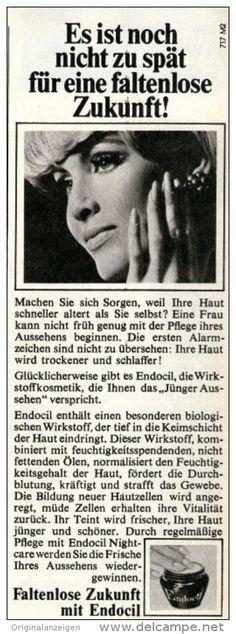 Original-Werbung/ Anzeige 1968 - ENDOCIL KOSMETIK - ca. 60 x 170 mm
