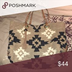 Luck Brand Tribal Purse Pre-loved but has tons of life left! Normal wear no major damage. Good condition. Lucky Brand Bags Shoulder Bags