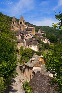Conques Village in Aveyron, France