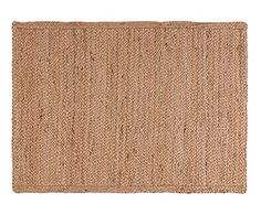 Alfombra de cáñamo trenzado, natural - 45x75 cm