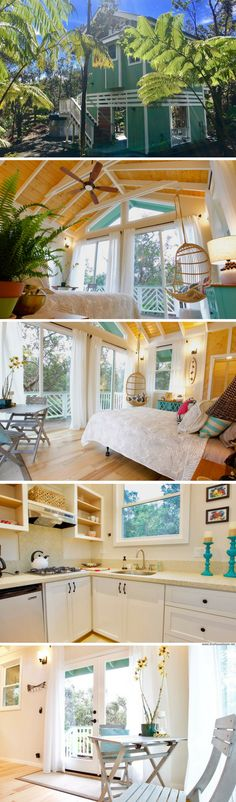 A 300 sq ft tree cottage in Volcano, Hawaii, that's available to rent via Airbnb!