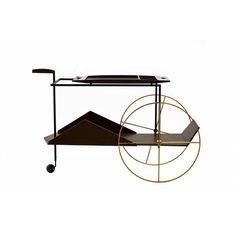 """JZ"" tea trolley (1950) by Jorge Zalszupin, produced by Etel (Brazil) for Espasso"