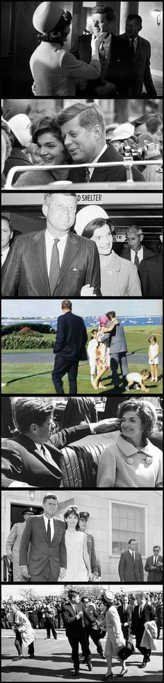 Photographs of John and Jackie Kennedy openly expressing their affection, which was a rare event. After the Cuban Missile Crisis and especially after the loss of their son Patrick, their relationship became stronger and Jack started to shed his aversion to public displays of affection. The last photo is heartbreaking, as it was taken only a couple hours before JFK was assassinated and is one of only a few taken of them holding hands.