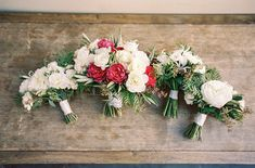The bridesmaid bouquets for this garden inspired wedding featured white fluffy blooms and delicate greenery. The bride opted for a bouquet that was similar in style, but with the addition of fuchsia accents for a pop of color | Bob Gail Events Wedding Bouquets, Bridesmaid Bouquets, Different Types Of Flowers, Groom And Groomsmen, Garden Wedding, Event Planning, Wedding Events, Floral Wreath, Wedding Inspiration