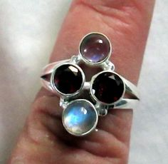RING   Inlay  PINK  Fire OPAL 925  Sterling Silver by MOONCHILD111, $22.95 https://www.etsy.com/shop/MOONCHILD111
