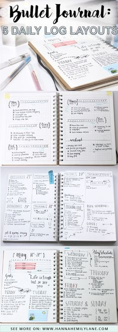 Change up your bullet journal pages with this daily log layout inspiration - bujo layouts and spreads Planner Bullet Journal, Bullet Journal Page, My Journal, Bullet Journal Inspiration, Life Planner, Journal Pages, Bullet Journals, Bullet Journal Daily Log Ideas, Daily Journal