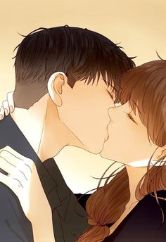 Cute Couple Drawings, Anime Couples Drawings, Anime Couples Manga, Manga Anime, Couple Manga, Anime Couple Kiss, Love Cartoon Couple, Couple Art, Anime Love Story