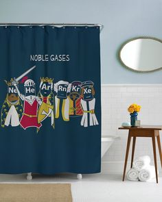 Noble Gases Shower Curtain