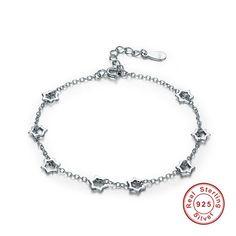 925 Sterling Silver bracelets & bangles Stars Popular Chain Link Adjustable Bracelets for Women Jewelry Fashion Bracelets, Bangle Bracelets, Fashion Jewelry, Women Jewelry, Bangles, Adjustable Bracelet, Sterling Silver Bracelets, 925 Silver, Chain