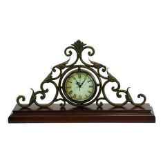 "Metal Mantel Clock 22"" 758647680610 | eBay"