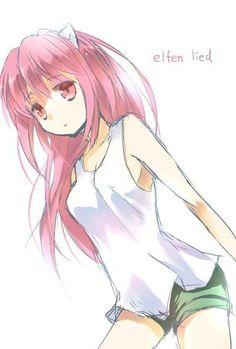 Here's a nice Nyuu/Lucy fan art. ^.^ -- Elfen Lied