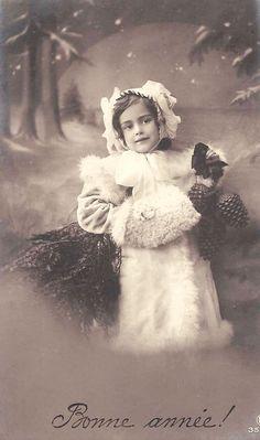 Holiday vintage postcard