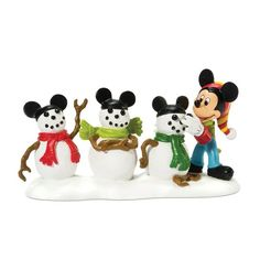 The Disney Showcase Collection and Department 56 join to bring to life the delightful cartoon world of Mickey Mouse in intricately detailed lighted buildings and accessories. All of Mickey's friends and relatives are represented in The Disney Village Collection by Department 56.