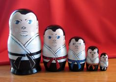Karate figure nesting dolls