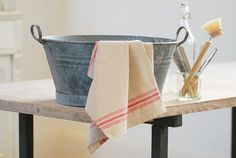 Lovely French farmhouse-style tea towels