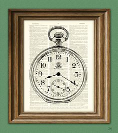 Antique Pocket Watch illustration beautifully by collageOrama, $7.99