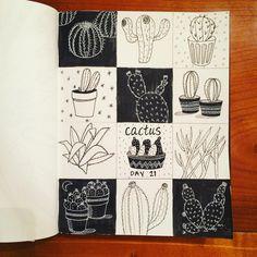 Day 21: Cactus #CBDrawADay #creativebug #lisacongdon