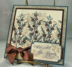 Lovely sympathy card ... I think I would use softer colors, but I love it anyway