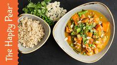 Vegetable korma - indian vegetarian recipe - the happy pear. Vegan Recipes Videos, Vegan Recipes Easy, Easy Dinner Recipes, Vegetarian Recipes, Easy Meals, Recipe Videos, Veggie Recipes, Dinner Ideas, Happy Pear Recipes