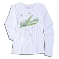 adidas Seattle Sounders Women's Long Sleeve Script T-Shirt S