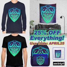 25% OFF on Everything in my @society6 store!! Just use code: APRIL25. Buy Cool #gaming gifts with discount! #zelda #legendofzelda #society6 #monday #art #gaming #gamer #zeldashield #gamersroom #gamergirl #homedecor #gamingtapestry #walltapestry #tees #shirts #tshirts #gamertshir t#gamingtshirts #geek #nerd #retrogamer #coffe #mug #backpack #gym #travel #monday #sale #sales #discount