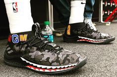 premium selection 0eaed 32d4b Heres an On-Feet Look at the BAPE x adidas Dame 4