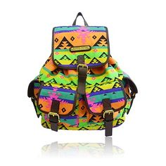 ANNA SMITH Multi-colour Neon Aztec Rucksack #myhigh.st
