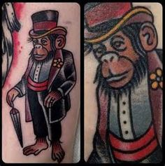 Circus Monkey Tattoo
