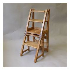 The 'metamorphic' chair as converted into library steps. Ladder Chair, Stool Chair, Ladder Decor, Navy Blue Accent Chair, Library Chair, Office Chair Without Wheels, Rocking Chair, Wood Projects, Home Improvement