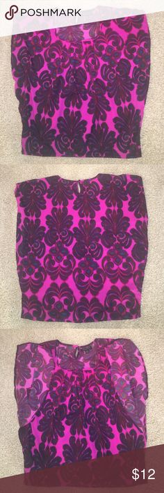 New Banana Republic Flutter Dress Blouse Size XS New without tags.  Flutter sleeves. So many beautiful bold colors within this blouse that include shades of pink, red, green, and blue. Banana Republic Tops Blouses