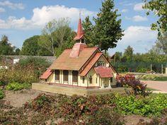 Die Stabkirche Hahnenklee als Miniaturbauwerk.