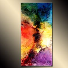 Abstract Painting Original Abstract painting by newwaveartgallery