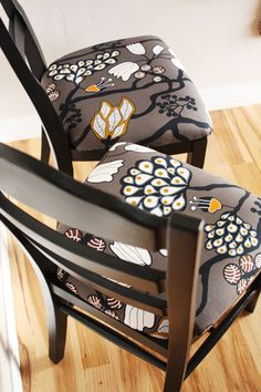 Once Was Junk: ----> Repainted/Reupholstered Chairs