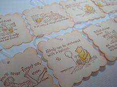 Handmade Gift Tags  Winnie the Pooh  Baby Birthday or by wkburden
