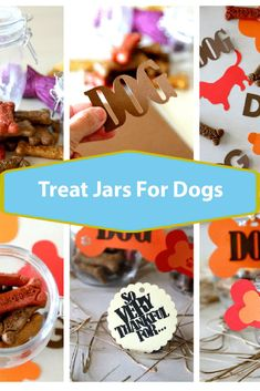 Thankful Treat Jars for Dogs, create your own thankful dog treat jar to pass out for gifts this holiday season, easy DIY and fun for crafting Fun Crafts, Diy And Crafts, Crafts For Kids, How To Make Something, Dog Treat Jar, Homemade Crafts, Dog Treats, Craft Projects, Easy Diy