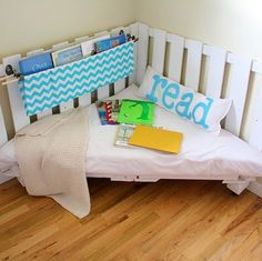 Reading corner for a kids room