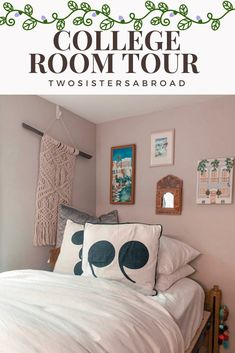College Room Tour! - Two Sisters Abroad College Room, College Hacks, Small Kitchenette, College Survival, Two Sisters, White Wicker, Open Concept Kitchen, Laundry Hamper, Room Tour