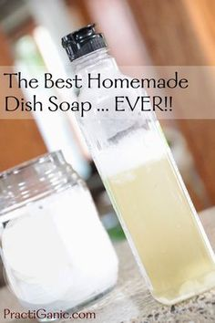 PractiGanic: Vegetarian Recipes and Organic Living: Best Homemade Dish Soap EVER!