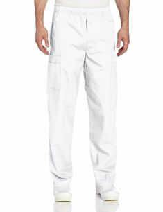 4dcfceb73ea (Sponsored)eBay - Landau Essentials NEW White Mens Size Medium M Cargo Scrub  Pants